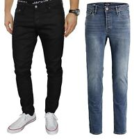 Jack & Jones Men's Slim Fit Designer Straight Leg Pants Casual Denim Jeans