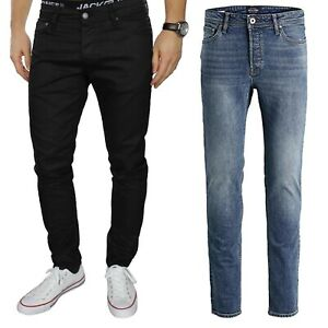 Jack and Jones Mens Jeans Intelligence Tom Skinny Fit Pants Trousers Bottoms Zip