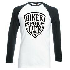 "Motorrad Zoll Biker für Leben "" Raglan Langarm Baseball T-Shirt"