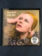 DAVID BOWIE RARE HUNKY DORY LP GOLD VINYL MINT LIMITED EDITION SEALED