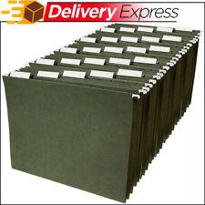Hanging Organizer File Cabinet Folders Letter Size, Green, 25-Pack Folder Hanger