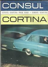 FORD CONSUL CORTINA SALES BROCHURE AUGUST 1962 FOR 1963 MODEL YEAR
