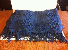 "Handmade Teal Blue Afghan....55"" x 70"""