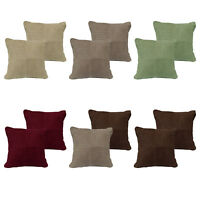 Pack of 2 - Pintuck Suede Lounge Sofa Living Cushion Covers 43 x 43 cm