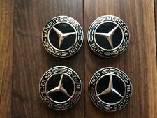 Alloy Wheel Centre Caps noir Set (4) Genuine Mercedes Benz 2018 Nouveau Design