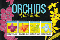 Union Island Grenadines St Vincent 2014 MNH Orchids of World 4v M/S Flowers