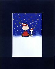 SNOOPY & CHARLIE BROWN~8 X 10 Mat Print~I GOT YOUR BACK~SHOOTING STARS~NEW