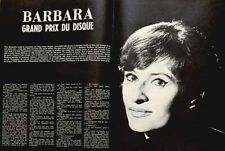 Article papier 3 pages BARBARA mars 1965 SI 1709 P1047137