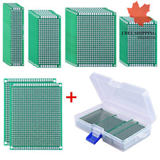 36 Pieces Double Sided PCB Board Prototype Kit 5 Sizes Universal Printed Circ...