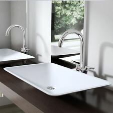 Durovin Bathrooms White 60cm x 38cm Stone Counter Top Basin