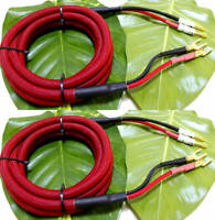 Red Audiophile Hi-end hifi AMP Speaker Cable wire 10AWG 12AWG Gauge Banana Spade