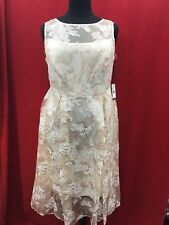 ADRIANNA PAPELL DRESS/LENGTH 49'SIZE 16W/PLUS SIZE/RETAIL$180/NEW WITH TAG