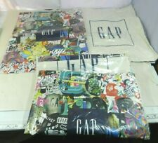 5 X GAP Tote Bag Graphic Front Logo Cotton Muslin Shopping Bag Sack Pack NEW