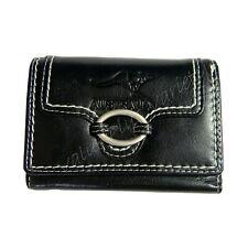 Ladies Black Genuine Leather Wallet Coin Clutch Purse Australia Kangaroo Stamp