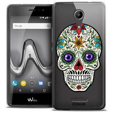 """Coque Gel Pour Wiko Tommy 2 (5"""") Extra Fine Souple Skull Maria's Flower"""