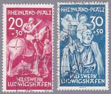 Rheinland-Pfalz Mi.Nr. 30-31 gestempelt und geprüft