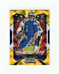 Zach Wilson 2021 Prizm Draft Picks All-Americans Rookie Gold Cracked Ice #182
