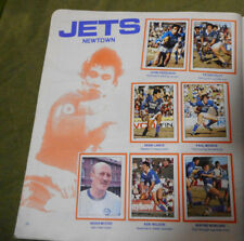 #T90. 1983  NEWTOWN JETS  RUGBY LEAGUE STICKERS ON ALBUM PAGE