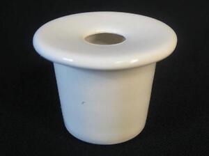 "WHITE SCHOOL DESK INKWELL ceramic ink pot insert ""chose 4 sizes 4 colours"""