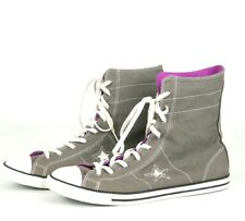 CONVERSE ONE STAR Women's Gray Walking Canvas High Top Shoes Size-8.5