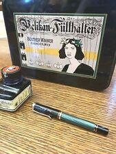 Pelican Fountain Green Striped Pen M200 Black