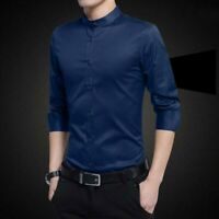 Luxury Dress Shirts Slim Fit Tops Casual Stylish Long Sleeve Shirt Men's