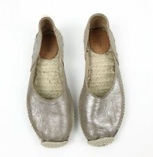 Rag & Bone Women's EUR 37 Noa Taupe Metallic Suede Espadrille Shoes Slip On