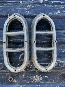 1950 DeSoto Rh Lh Tail Light Bezels Trim RAT ROD CUSTOM SPORTSMAN DELUXE 50 OEM