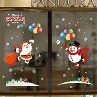 Vinyl Decal Door  Window Party Decor Xmas Wall Sticker Merry Christmas Ornaments
