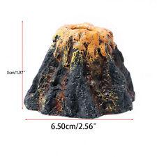 Aquarium Volcano Shape&Air Bubble Stone Oxygen Pump Fish Tank Ornament Decor