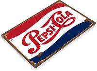 "TIN SIGN ""Pepsi Cola Retro"" Metal Decor Wall Art Soda Store Shop A563"