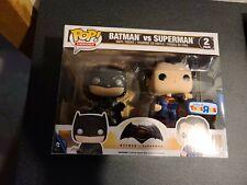 Batman v Superman Toys R Us Exclusive Funko Pop 2-Pack Rare