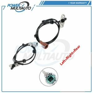 Pair Rear ABS Wheel Speed Sensor LH & RH For 2005 2006-2010 For Nissan Frontier