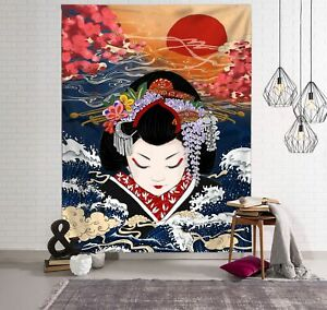 Tapestry Wall Hanging Blanket Big Whale Totem Bohemian Bed Home Decor Bedspread