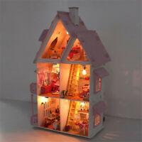 DIY Puppenhaus Holzmöbel Miniatur Puppenhaus Modellhaus Kinder Geschenk