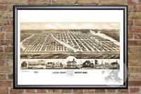 Vintage Ocean Grove, NJ Map 1881 - Historic New Jersey Art Victorian Industrial