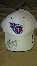 steve mcnair signed tennessee titans hat autographed