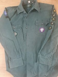 Vintage Scout Shirt With Badges And 1978 Annual