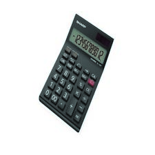 Sharp Black EL-124AT Desktop Calculator EL124ATWH