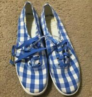 KATE SPADE/KEDS  Blue & White Sneakers Women's (US 6.5) Medium EUC