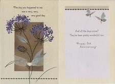 Hallmark 5th Anniversary Greeting Card From Spouse--Ribbon & Shimmery Accents
