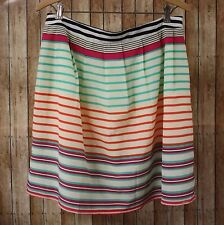 THML Striped Multi-color Skirt Left Side Zip Lined Women's Size Large