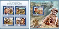 World War I Weltkrieg Military Wars Garrett Morgan Mozambique MNH stamp set