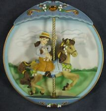 My Favorite Memory Collector Plate Carousel Daydreams 3-D Musical Animated