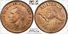 Australia 1949 Melbourne Penny PCGS MS64RD lot 0396
