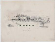Haldersleben Süplingen Bleistift Zeichnung aus Skizzenbuch Kalb Erlangen um 1890