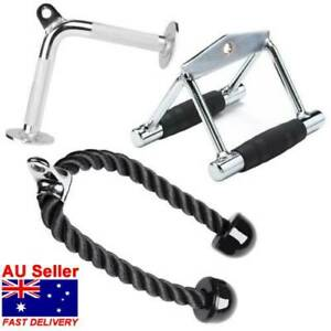 Tricep Press Down Cable Attachment V-Shaped Bar Tricep Ropes Gym Workout Indoor