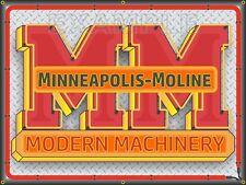 MINNEAPOLIS-MOLINE TRACTOR NEON STYLE PRINTED BANNER SIGN GARAGE ART 4' X 3'