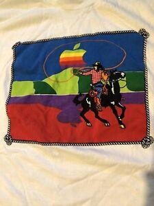 Vintage 1992 Apple Mac MacIntosh Computers T Shirt Cowboy RARE Promo Art 80s 90s