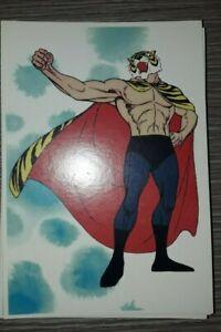 Cartoncino pubblicitario UOMO TIGRE  formato cartolina 11 X 16 CM MOD 2